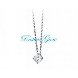 COLLANA MABINA IN ARGENTO E ZIRCONI 553060 PENDENTE PUNTO LUCE dealer 2JEWELS