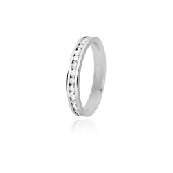 ANELLO VERETTA DONNA 2JEWELS IN ACCIAIO CON ZIRCONI INCASTONATI LOVE RINGS COD.221065/11