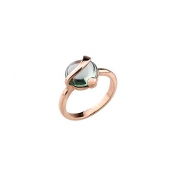 ANELLO SOLITARIO 2JEWELS IN BRONZO CON PIETRA VERDE MOD.WONDER