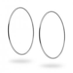 Orecchini a Cerchio Liscio diametro mm 55 in ARGENTO 925 Rodiato ref.1328213