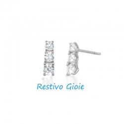 Orecchini punti luce donna Mabina in argento e zirconi ref. 563068