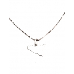 Collana Donna in argento 925 con ciondolo Sicilia T15167