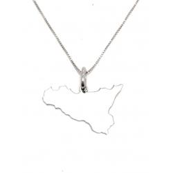 Collana Donna in argento 925 con ciondolo Sicilia T15162