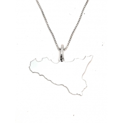 Collana Donna in argento 925 con ciondolo Sicilia T14915