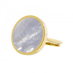 Anello aperto Marlù dorato con madreperla ref. 2AN0030G-S