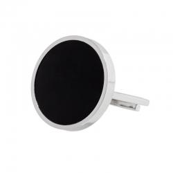 Anello aperto Marlù con acrilico nero ref. 2AN0031-S