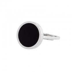 Anello aperto Marlù con acrilico nero ref. 2AN0033-S