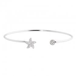 Bracciale rigido aperto Marlù con stella marina ref. 18BR074
