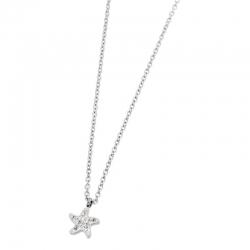 Collana Marlù in acciaio con stella marina ref. 18CN044