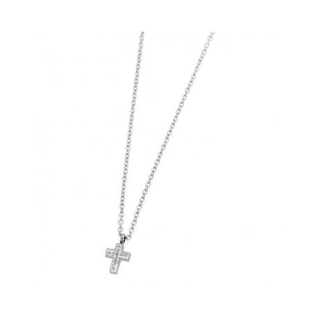 Collana Marlù in acciaio con croce ref. 18CN046