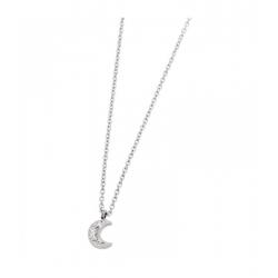 Collana Marlù in acciaio con luna ref. 18CN048