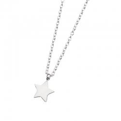 Collana Marlù in acciaio con stella ref. 18CN036