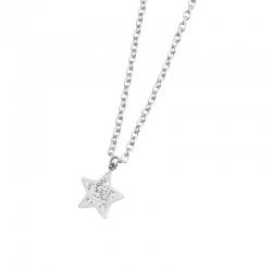 Collana Marlù in acciaio con stella ref. 18CN043