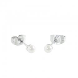 Orecchini Marlù con perla mm 4 ref.5OR0040W-4