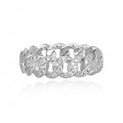 Anello groumette in argento con zirconi Mabina ref. 523134-15
