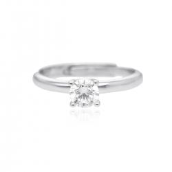 Anello solitario aperto Mabina in argento 925 con zircone ref. 523175