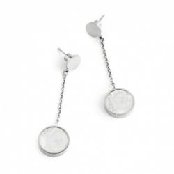 Orecchini pendenti donna Marlù in acciaio con madreperla ref. 2OR0043W
