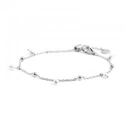 Bracciale donna Marlù in acciaio silver con sfere e perle pendenti 2BR0071W