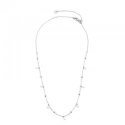 Collana donna Marlù in acciaio silver con sfere e perle 2CO0069W
