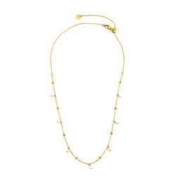Collana donna Marlù in acciaio gold con sfere e perle 2CO0069GW